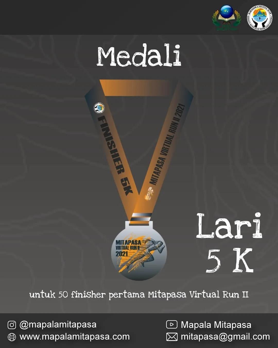 Medali � Mitapasa Virtual Run II • 2021