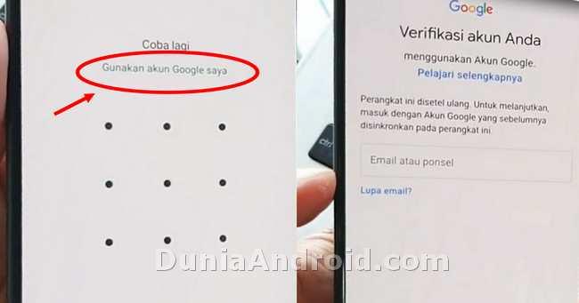 verifikasi akun google samsung A20 A30 A50