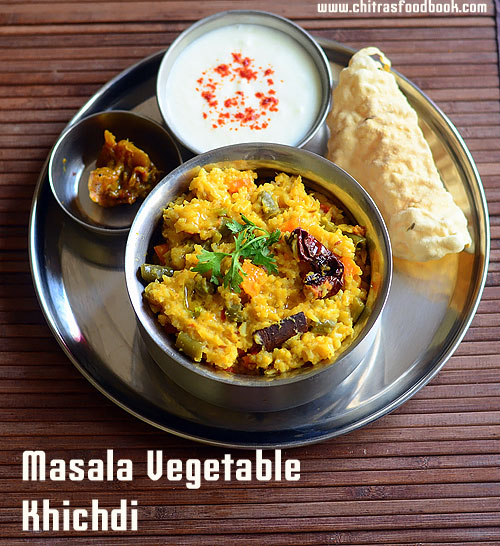 Masala khichdi Recipe / Vegetable Dal Khichdi Recipe in Pressure Cooker