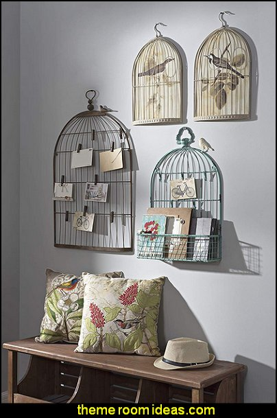 Wall Birdcage Shaped Card & Photo Holder