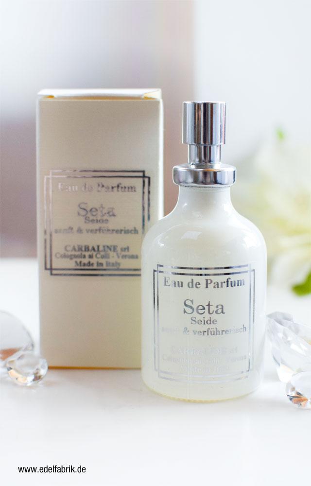CARBALINE Eau de Parfum Seta, frische Seide, Review