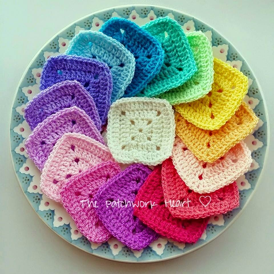 Rainbow colour palette from the Patchwork heart