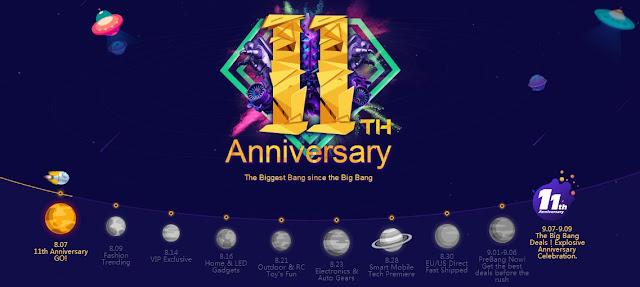 Banggood Explosive Anniversary Celebration