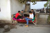 Tajikistan, Khujand, Sokirova Street, topchan, © L. Gigout, 2012