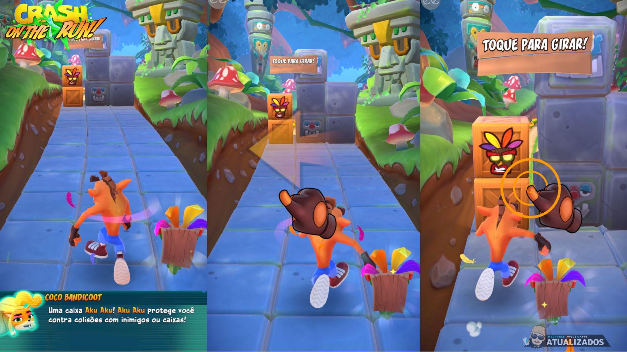 Crash Bandicoot on the run mod apk aventura e corrida