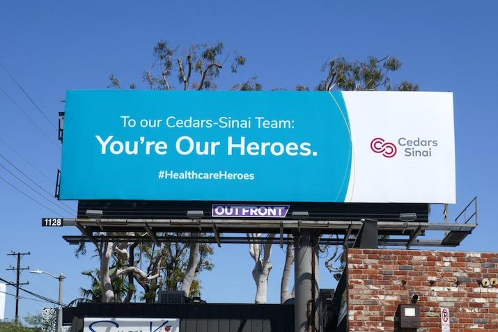 Cedars-Sinai Healthcare Heroes billboard