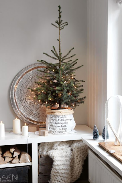image result for Swedish Farmhouse Christmas Decorating Interior Design tree