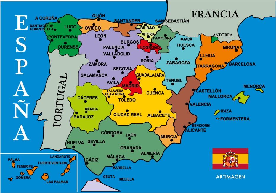 Mapas Politicos De Espana Y Europa