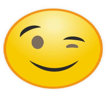 Emoticon WhatsApp Berkedip Satu
