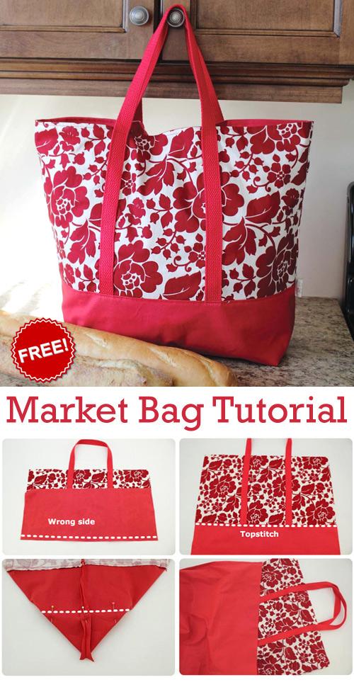 Market Bag Free Sewing Tutorial