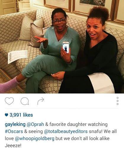 oprah winfrey  mistaken for Whoopi Goldberg at the Oscars