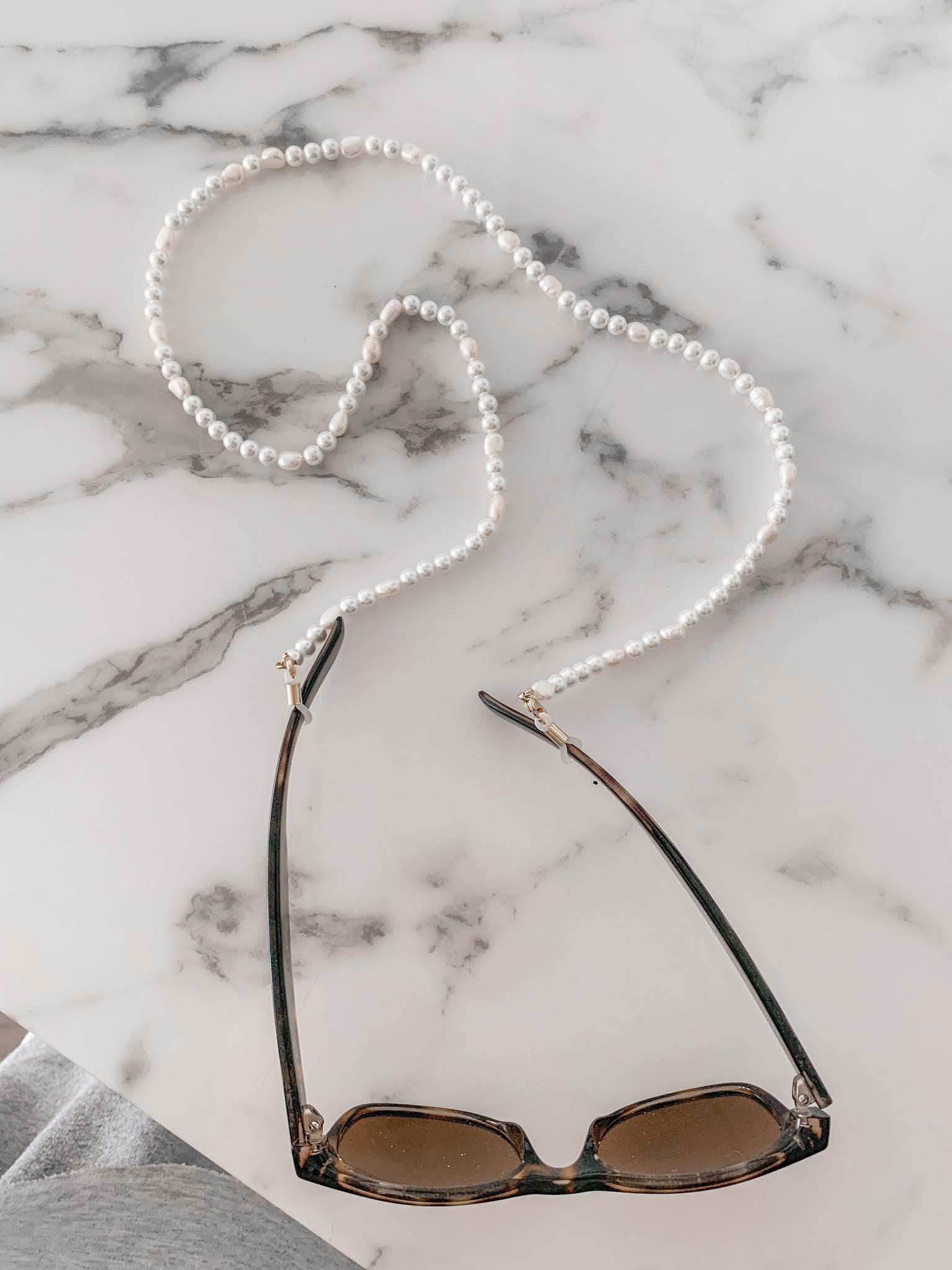How to turn your pearl sunglass chain into a face mask chain