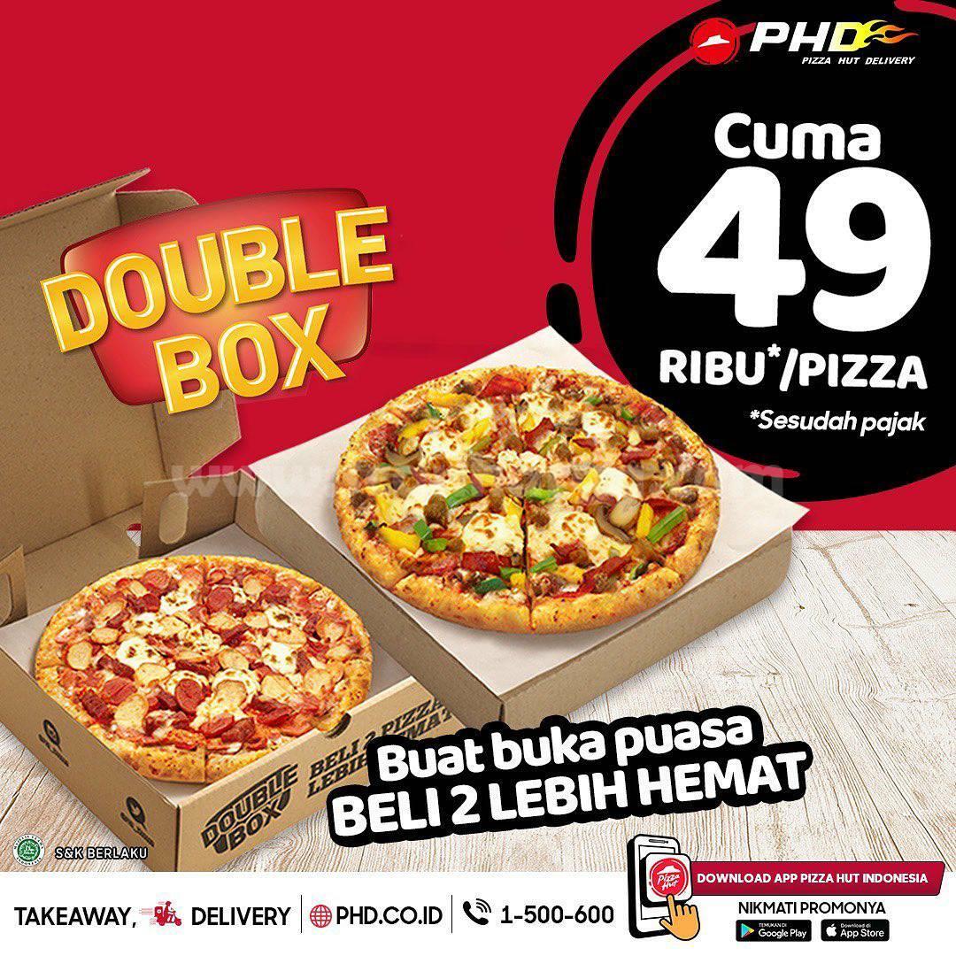 Promo Pizza Hut Delivery PHD Double Box Rp49.000