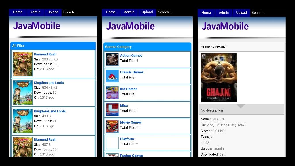 Wapkiz download site template demo, wapkiz download site design, javamob wapkiz template