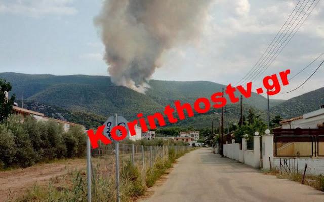 Μεγάλη πυρκαγιά στην περιοχή Ρυτό Κορινθίας