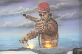 Mural ścienny wykonany w kręgielni, obraz na ścianie 3D