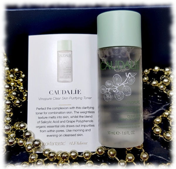 Caudalie Vinopure Clear Skin Purifying Toner bottle & card