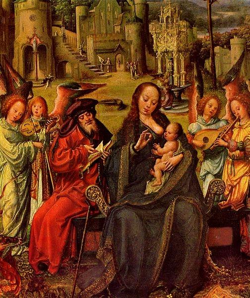 Jan Gossaert (Mabuse)  - Святое семейство