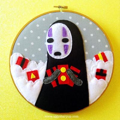 Studio Ghibli felt embroideries