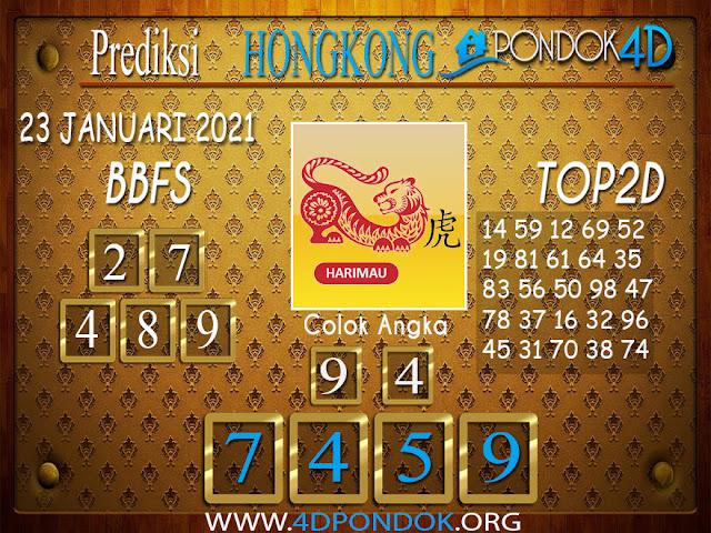 Prediksi Togel HONGKONG PONDOK4D 23 JANUARI 2021