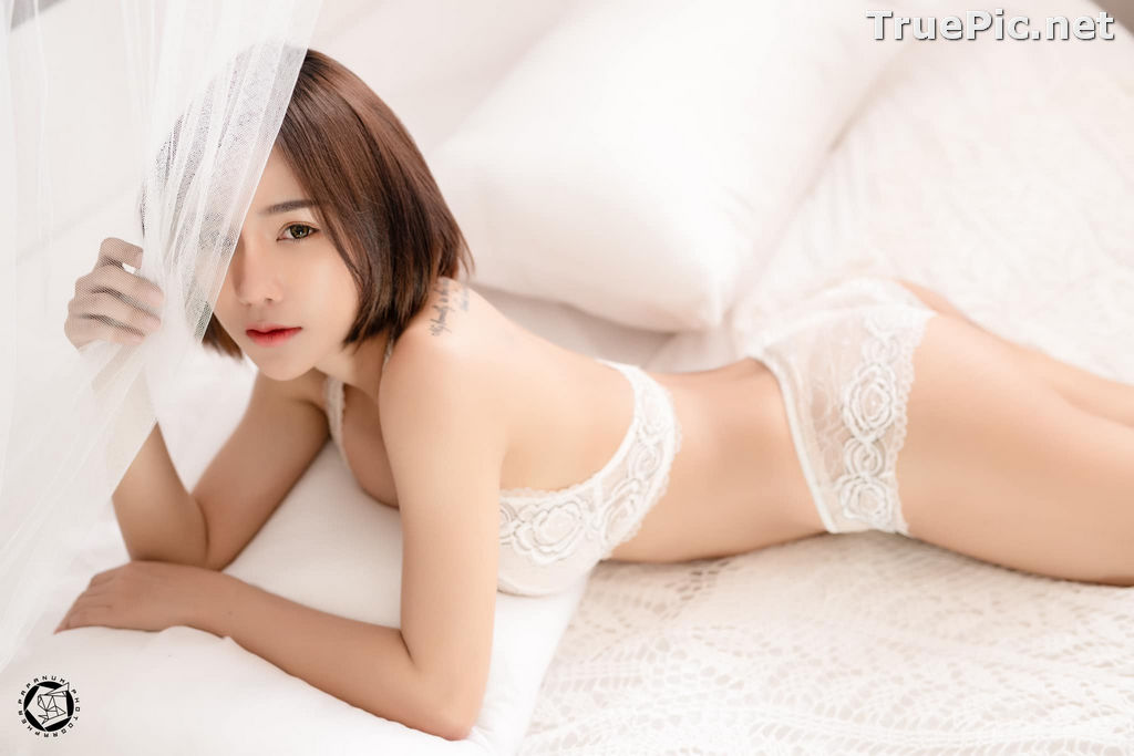 Image Thailand Model - Papoy Kuanpradit - Sexy White Lingerie - TruePic.net - Picture-15