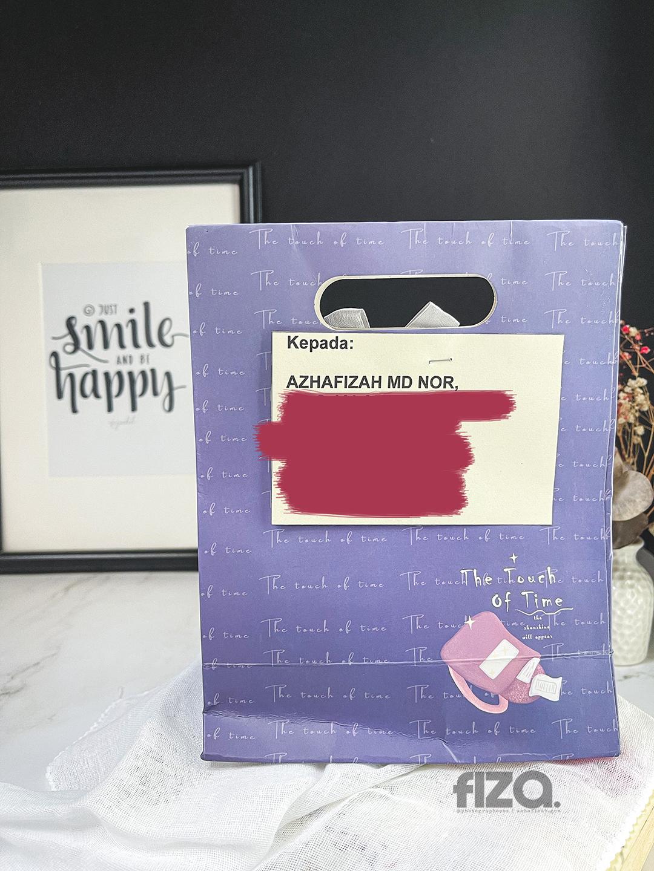 Gift paper bag purple