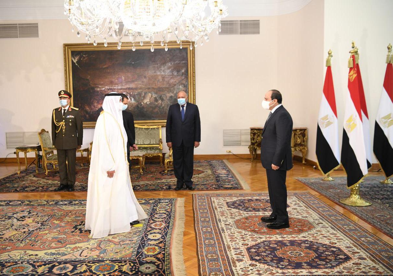 Sisi receives credentials of UAE diplomat