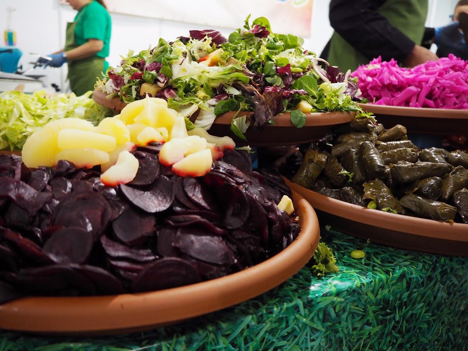 vegan salad prep
