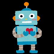 心を持ったロボットのイラスト