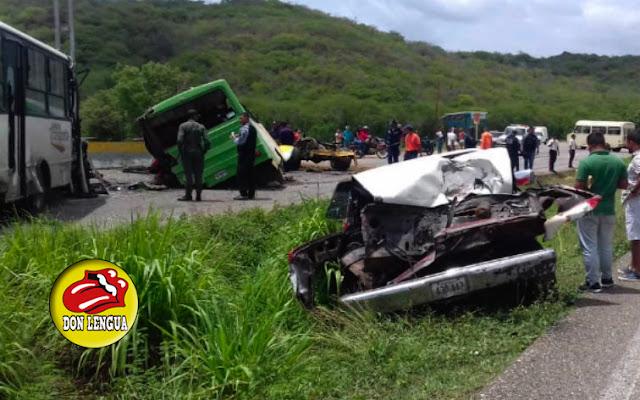 Autobús de Misión Transporte provocó terrible accidente en Charallave