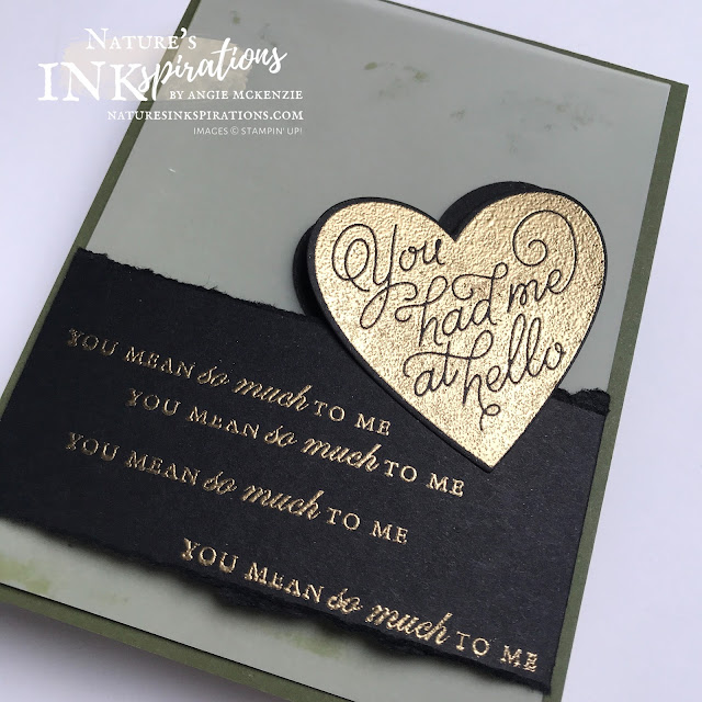 By Angie McKenzie for Stamping INKspirations Blog Hop; Click READ or VISIT to go to my blog for details! Featuring the Always in My Heart Bundle, Forever Blossoms Stamp Set, Field Tiles Dies, and the Playful Alphabet Dies by Stampin' Up!® to create a special anniversary card; #stampinup #cardtechniques #cardmaking #alwaysinmyheartbundle #alwaysinmyheartstampset #floralheartdies #playfulalphabetdies  #foreverblossomsstampset #fieldtilesdies #watercoloringwithink #heatembossing #naturesinkspirations #stampinupinks #stampingtechniques #stampinginkspirationsbloghop