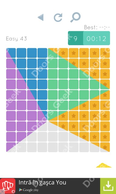 Cheats, Walkthrough for Blocks and Shapes Level 43