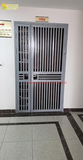 Cửa sắt chung cư 2 cánh tại chung cư HMDI