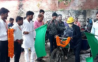 जौनपुर : डोर टू डोर सालिड वेस्ट कलेक्शन का हुआ शुभारंभ #NayaSabera