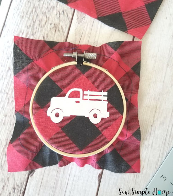 red and black plaid christmas ornaments