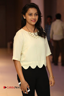 Actress Sri Divya Pictures in Jeans at Rayudu Movie Team Interview  0054