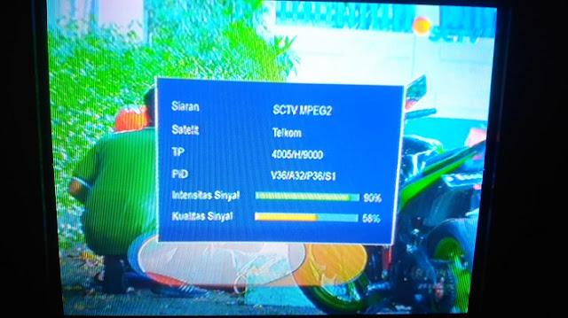 Frekuensi SCTV INDOSIAR  terbaru di Satelit Telkom 4