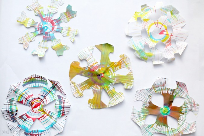 winter fun snowflake craft