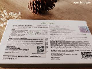 SNP Prep Cicaronic SOS Ampoule Ingredients