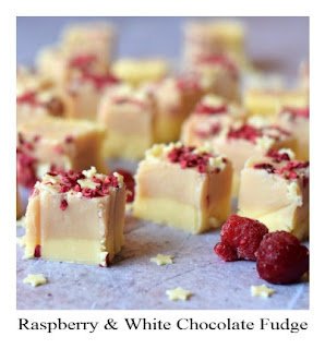 This homemade Raspberry & White Chocolate Fudge is as delicous as it is pretty.  It's perfect packaged up as a gift for loved ones or offered to guests as party nibbles.