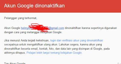 akun google yang dihack