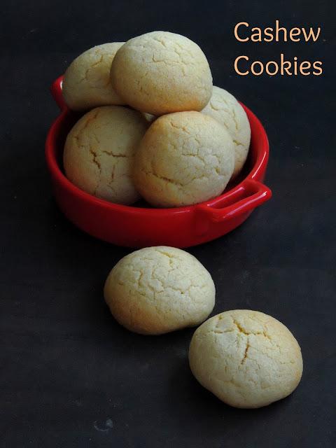Eggless Cashew Butter Cookies