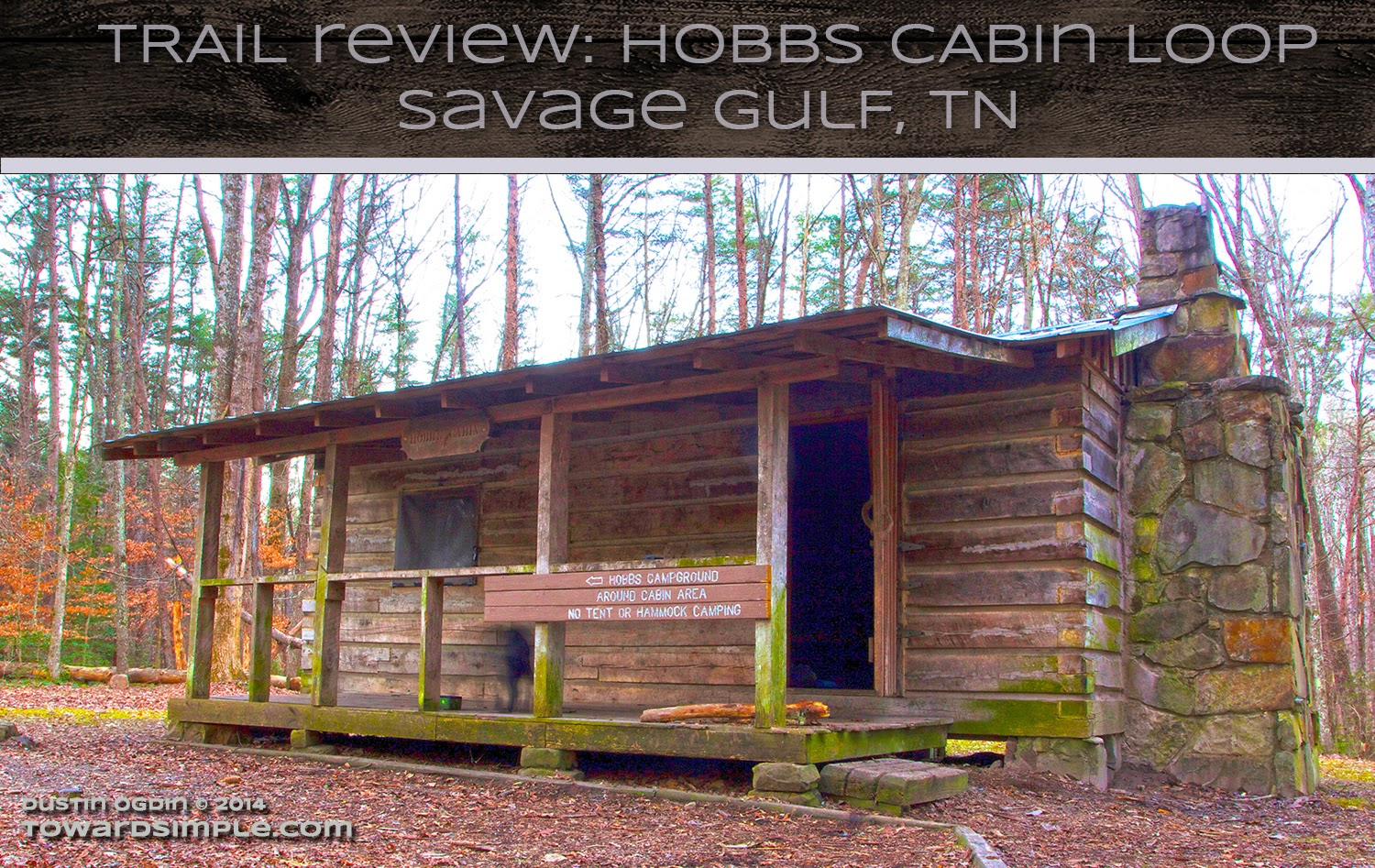 Hobbs Cabin Graphic, Savage Gulf, TN