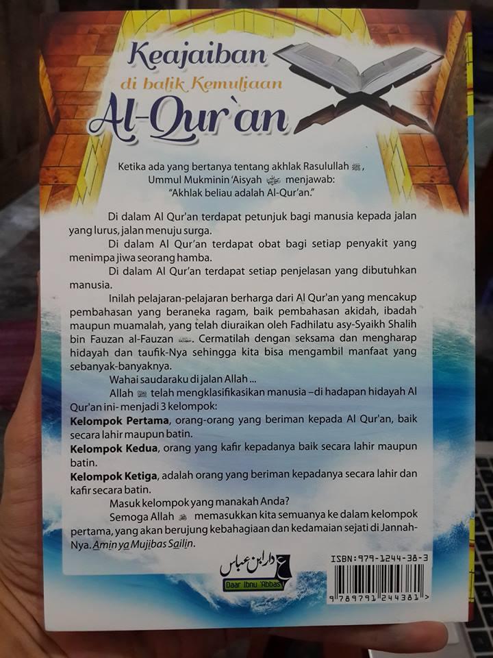 Buku Keajaiban di Balik Kemuliaan Al Quran Daar Ibnu Abbas