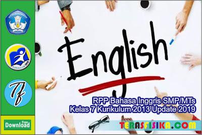 RPP Bahasa Inggris SMP/MTs kelas 7