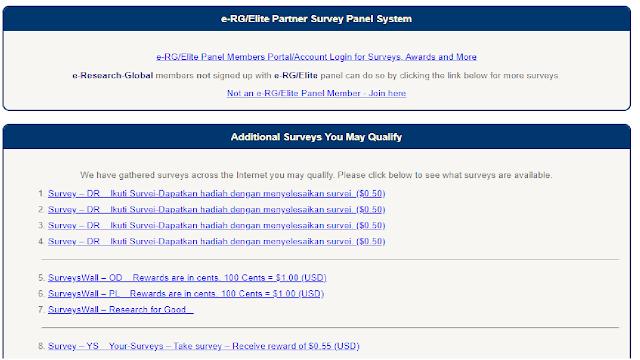 cara mendapatkan uang dari internet dengan mengikuti survey online dan dibayar dengan dollar