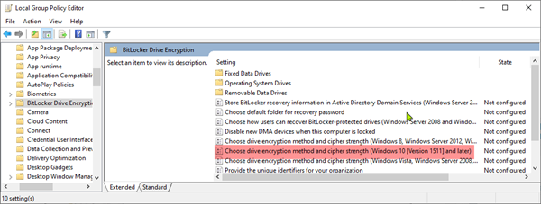 BitLocker Encryption & Cipher Strength