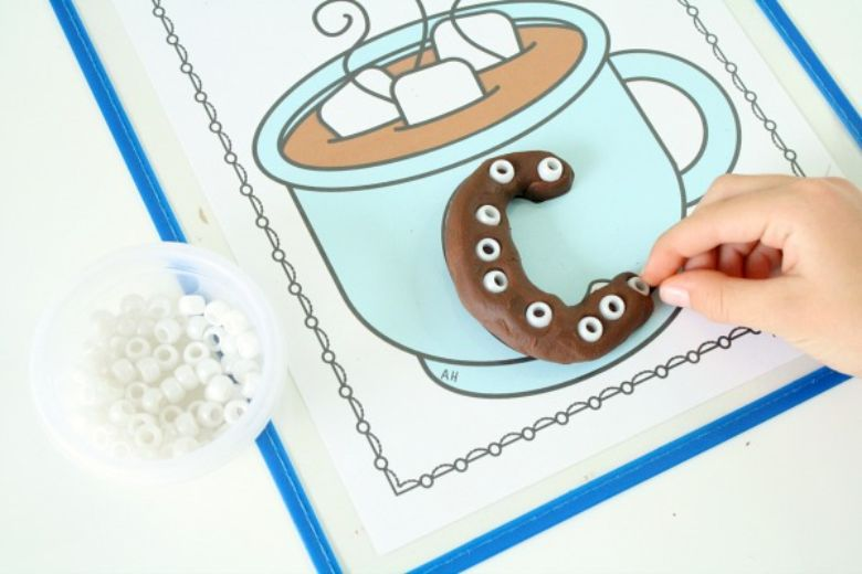 hot cocoa alphabet printable winter activity for kids