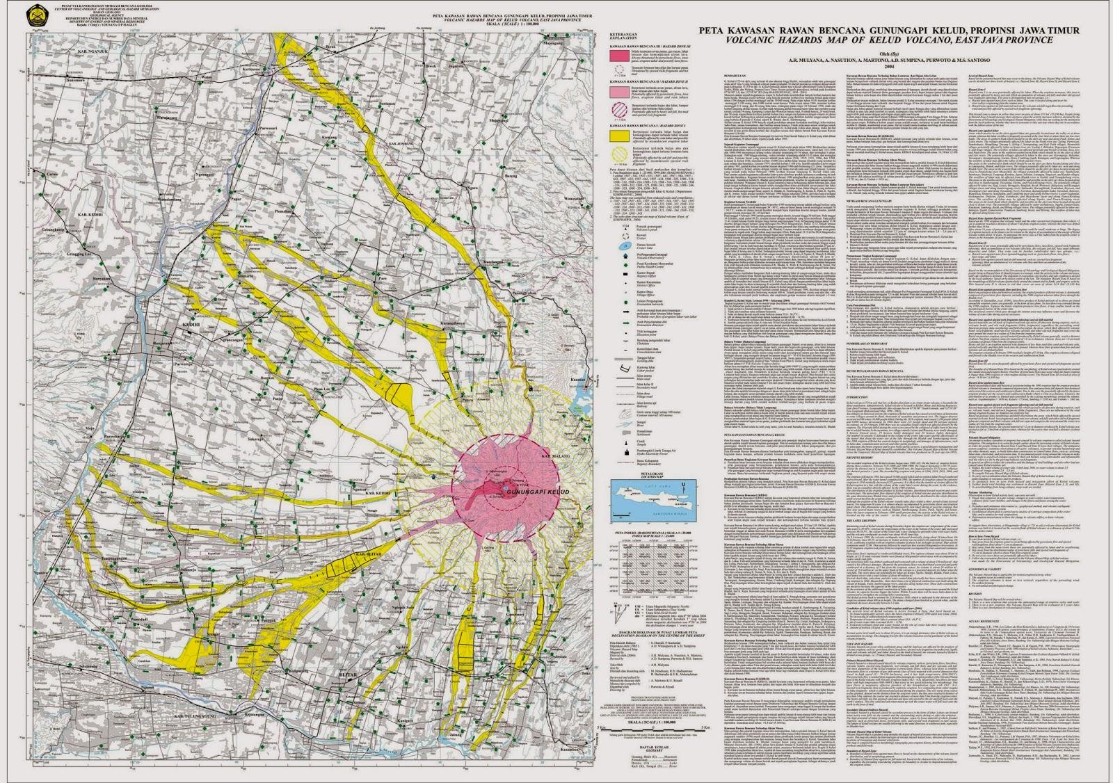 Inilah Blitar: Peta Kawasan Rawan Bencana Gunung Api Kelud