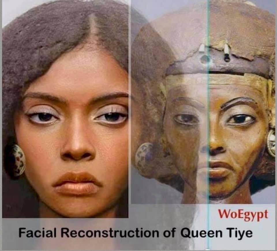 Facial reconstruction of Queen Tiye, Mother of Akhenaton and Grandma of King Tut